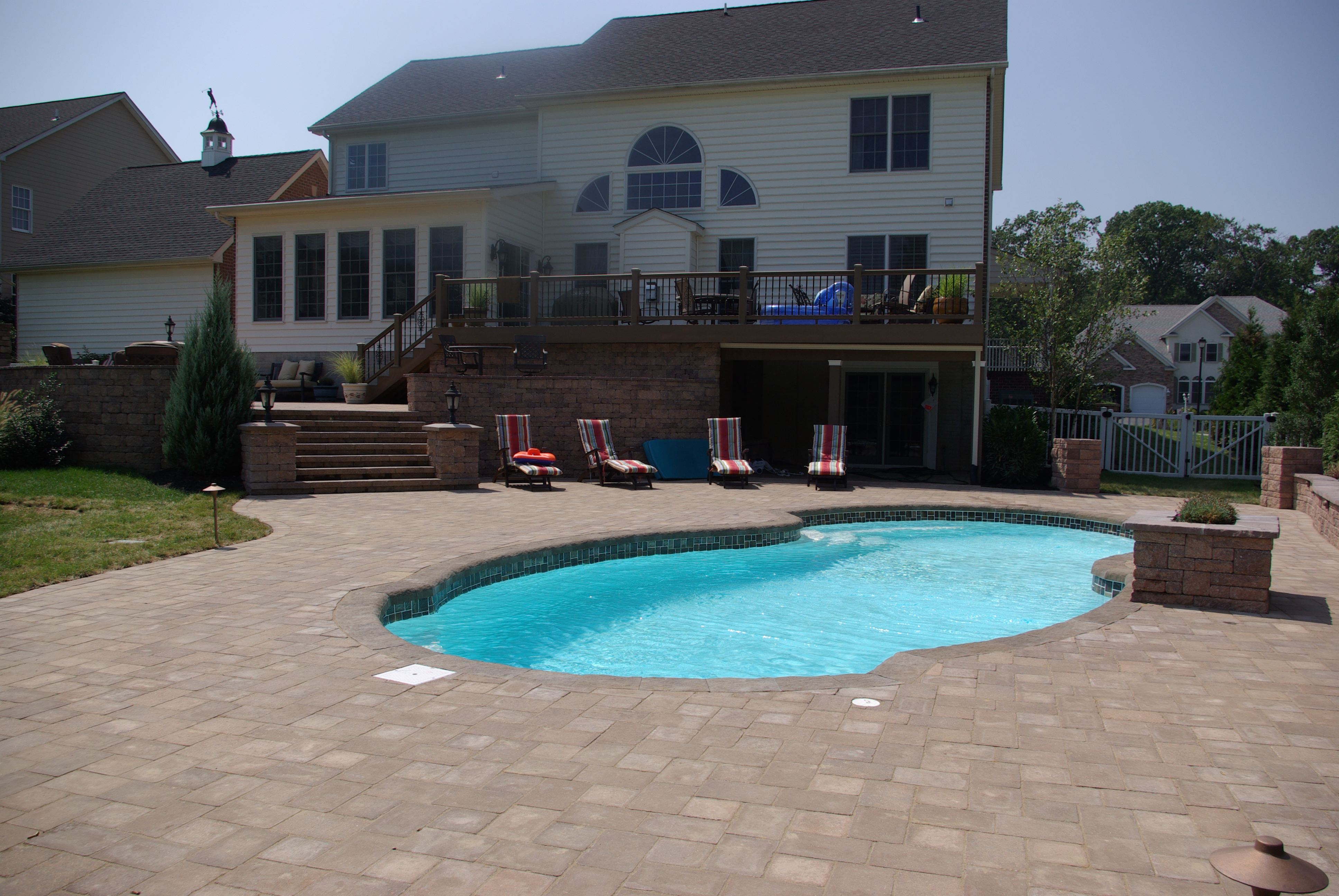 Inground pools woodfield landscaping belair md for Pool dealers